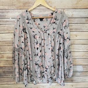 🌿Torrid Floral Long Sleeve Blouse Size 2x🌿